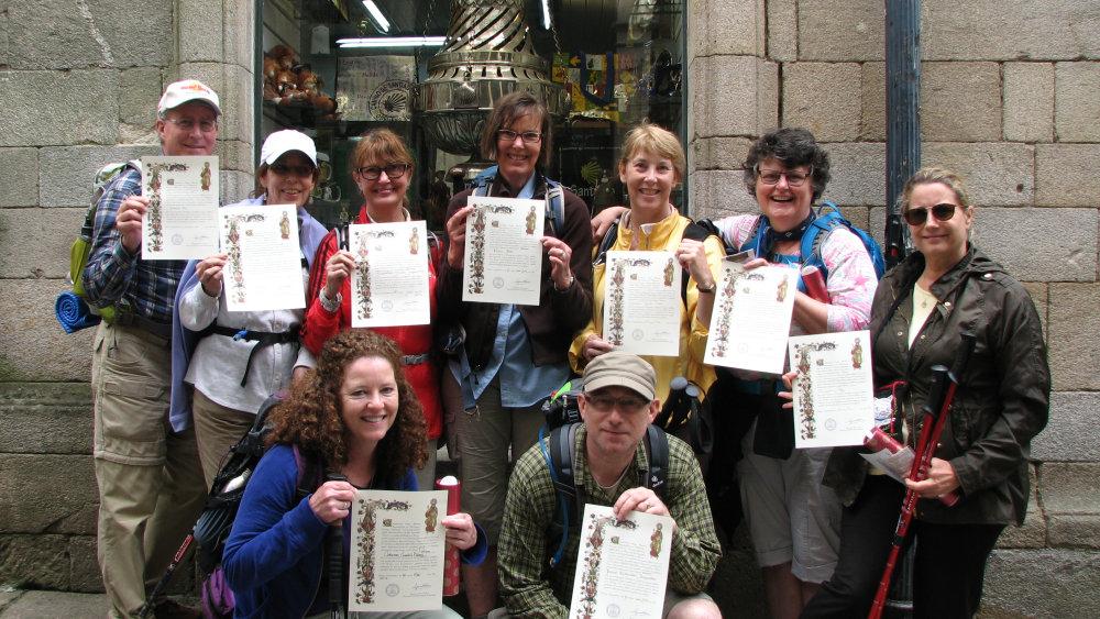 Santiago de Compostela: Officially pilgrims!